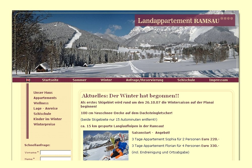 Screenshot landappartement.at