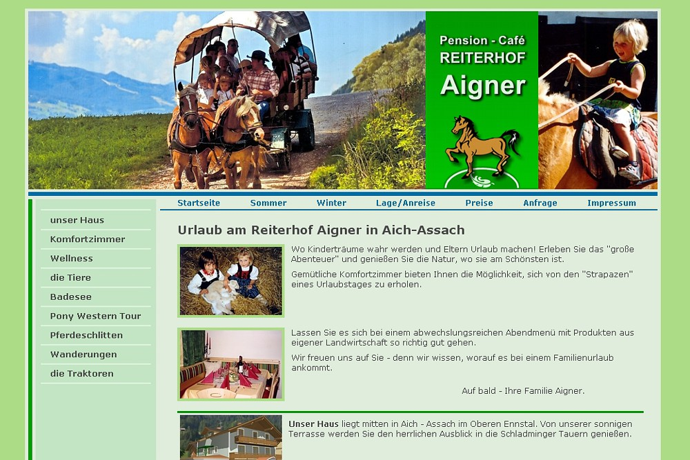 Screenshot reiterhof-aigner.at