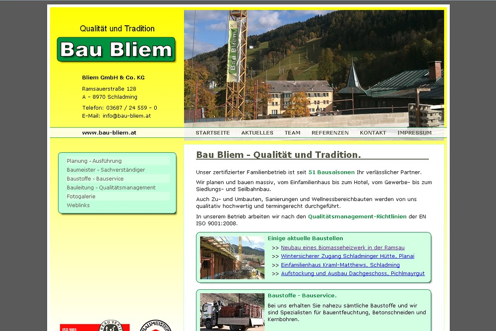 Screenshot bau-bliem.at