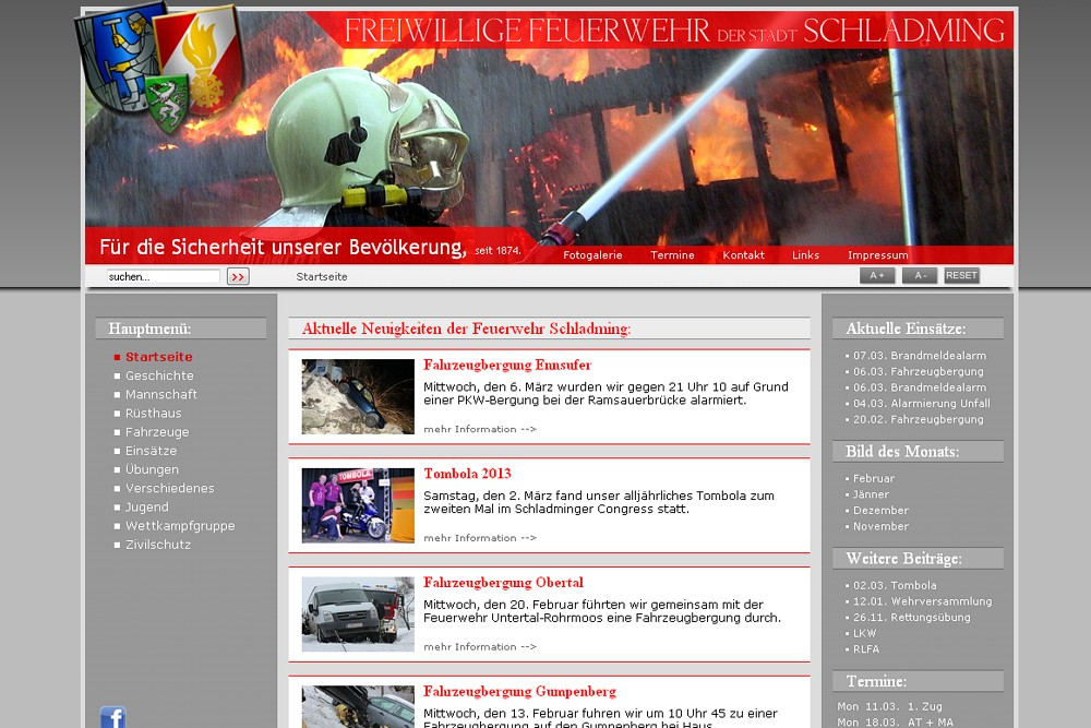 Screenshot feuerwehr-schladming.at