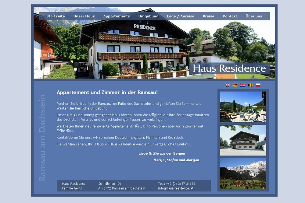 Screenshot haus-residence.at