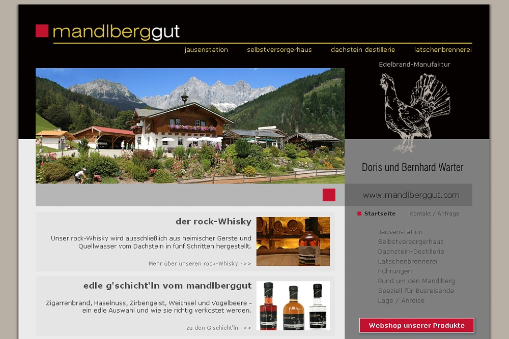 Screenshot mandlberggut.com