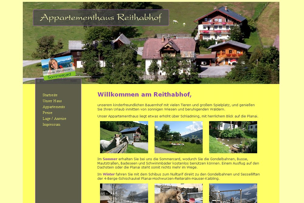 Screenshot reithabhof.at