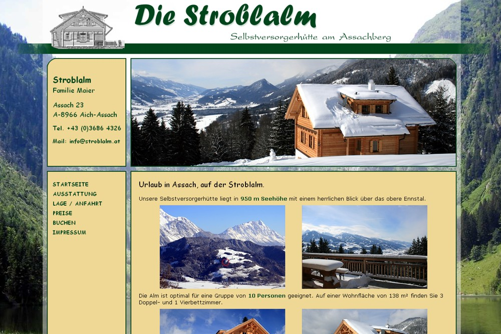 Screenshot hstroblalm.at