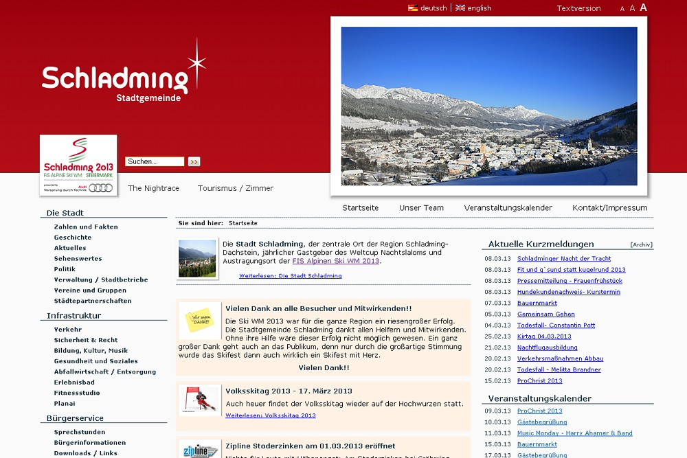 Screenshot gemeinde.schladming.at