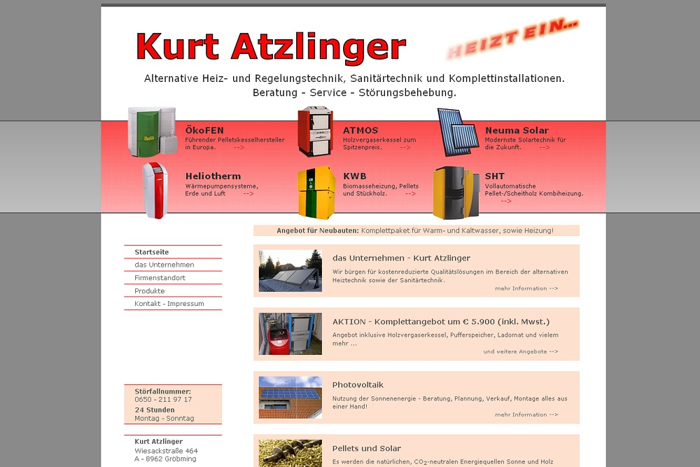 Screenshot kurt-atzlinger.at