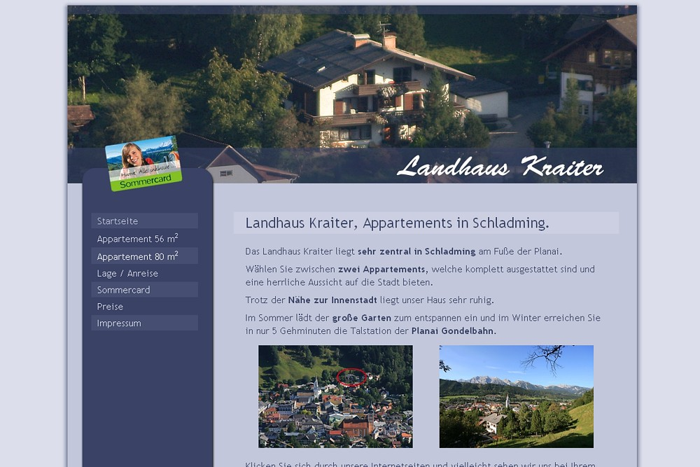 Screenshot landhaus-kraiter.at