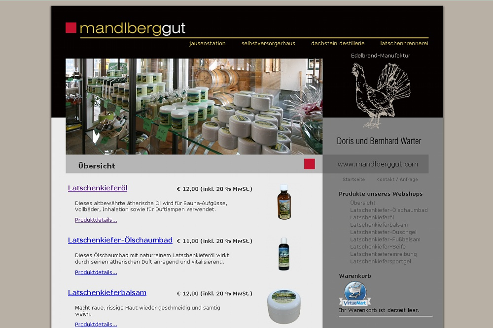 Screenshot mandlberggut.com/web-shop