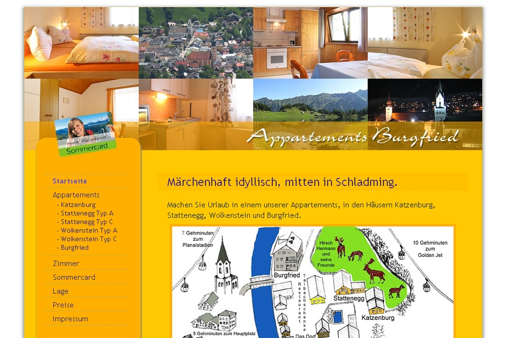 Screenshot appartement-burgfried.at