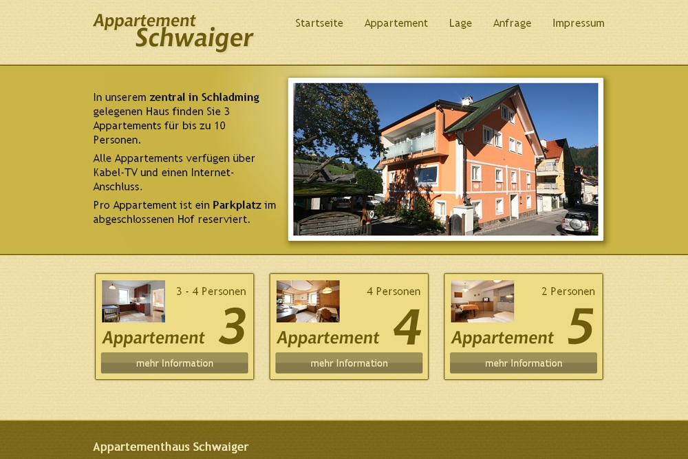 Screenshot appartement-schwaiger.at