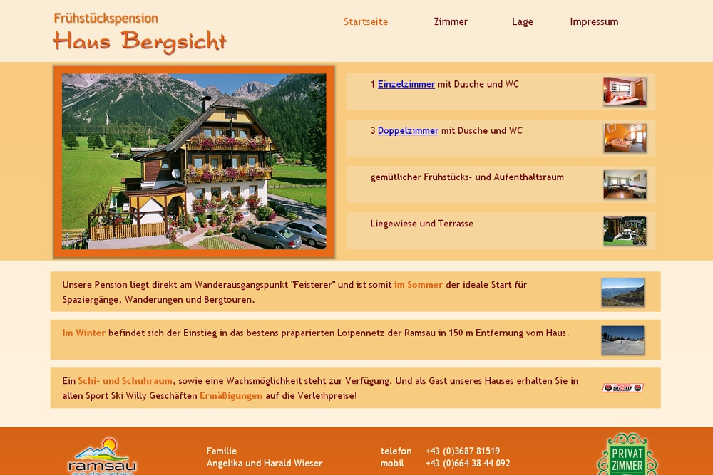 Screenshot bergsicht.at
