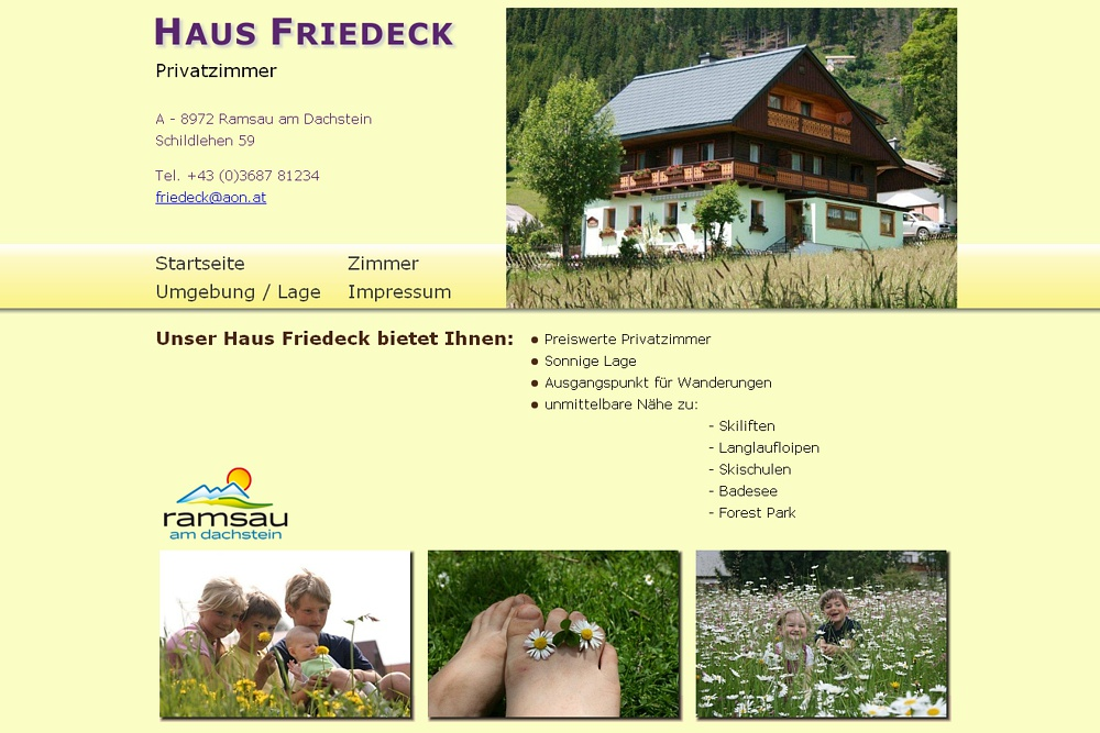 Screenshot haus-friedeck.at