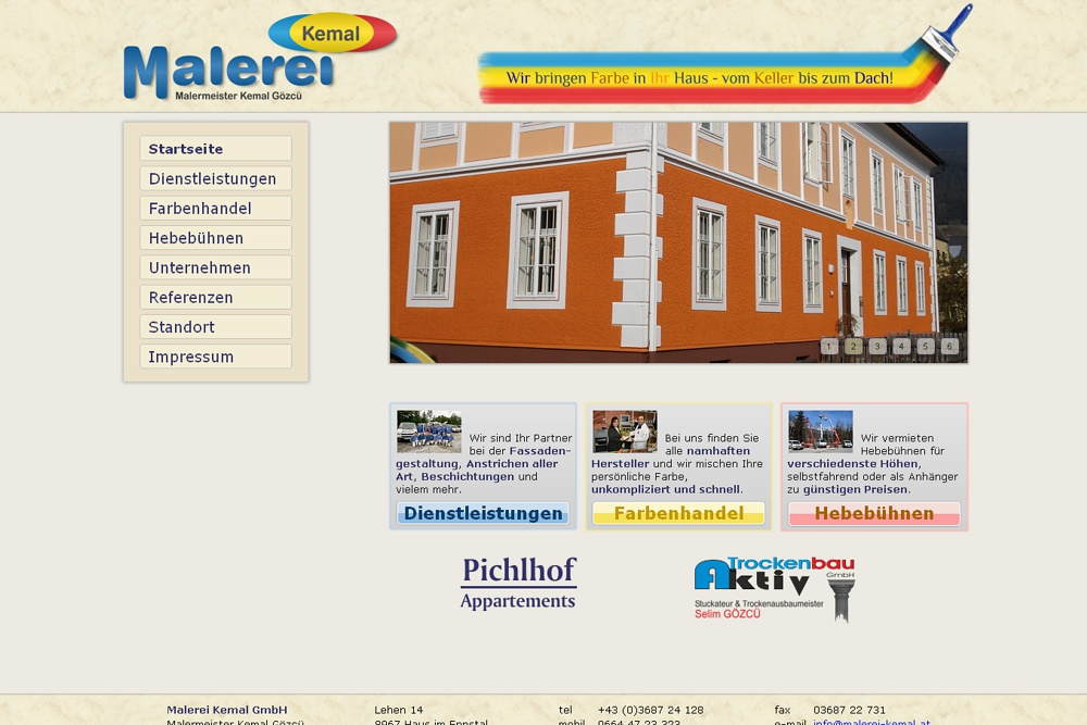 Screenshot malerei-kemal.at