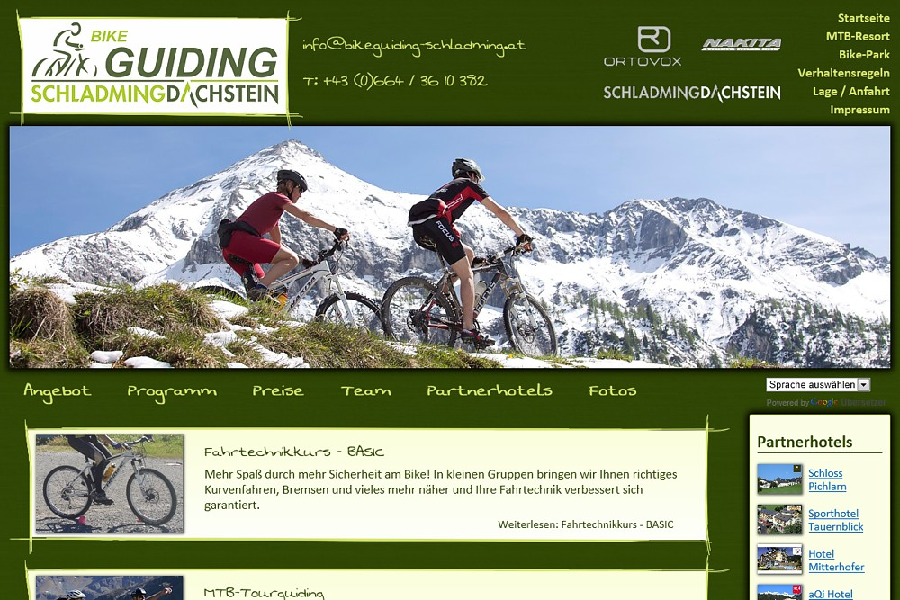 Screenshot bikeguiding-schladming.at