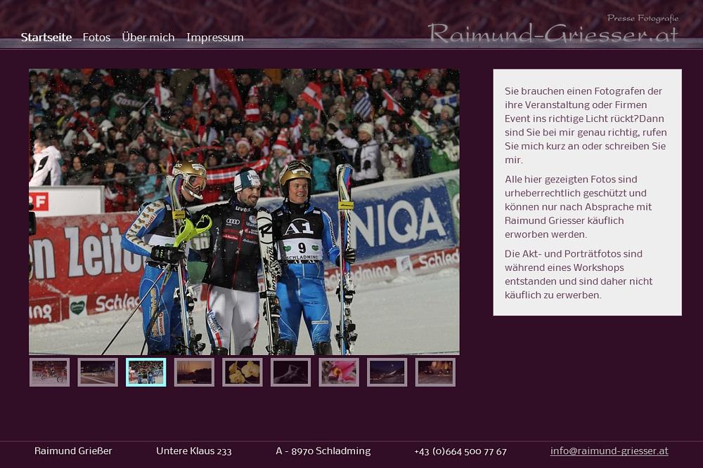 Screenshot raimund-griesser.at