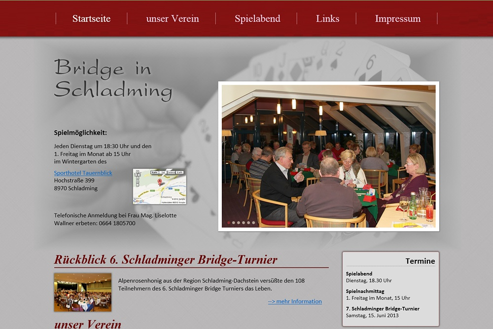 Screenshot bridgeclub-schladming.at