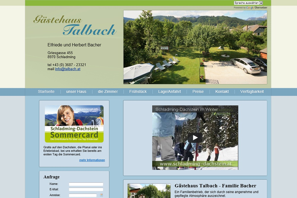 Screenshot talbach.at
