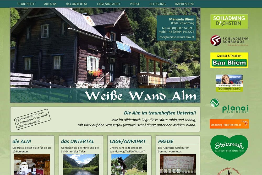 Screenshot weisse-wand-alm.at