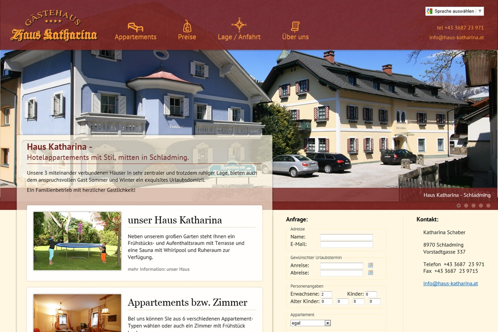 Screenshot haus-katharina.at
