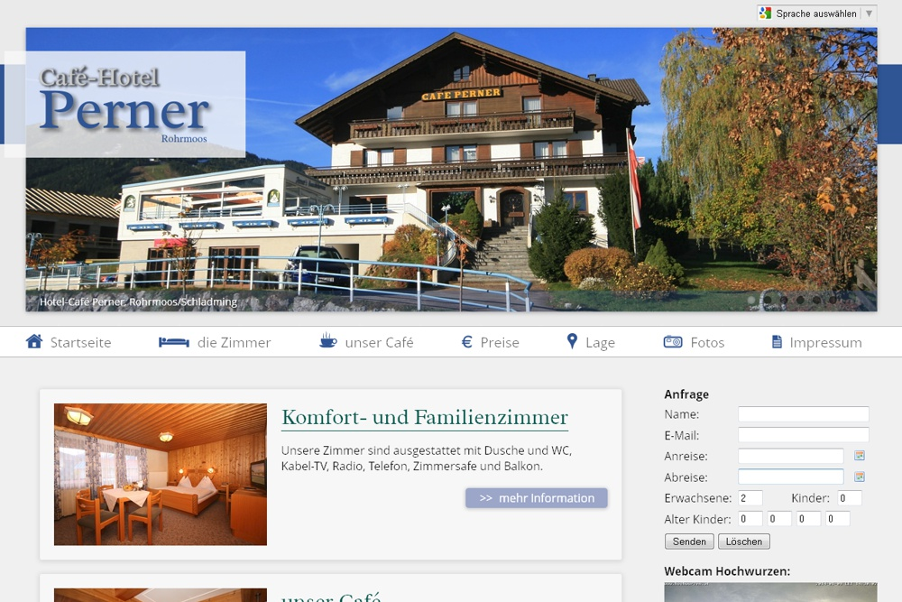 Screenshot hotel-perner.com