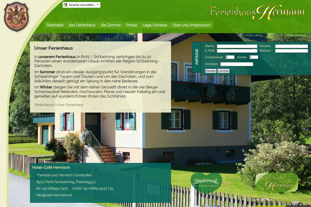 Screenshot ferienhaus-hermann.at