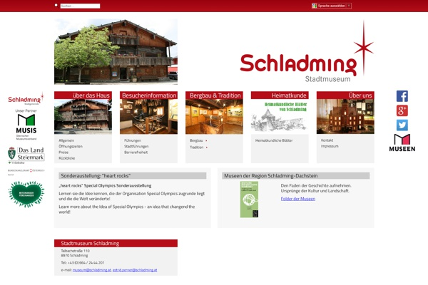 Screenshot museum.schladming.at