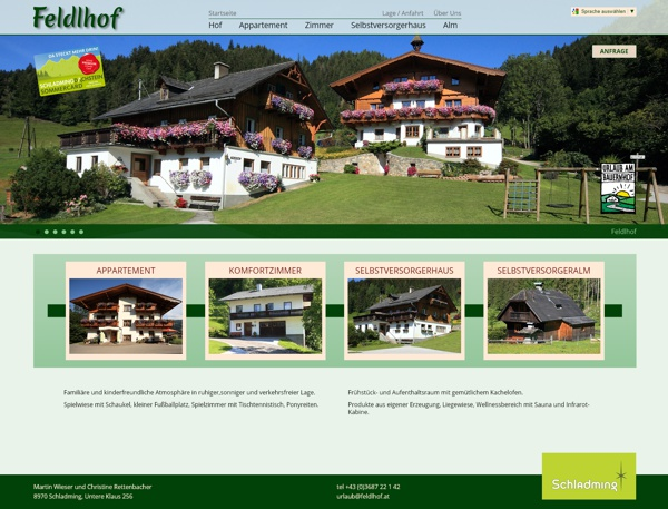 Screenshot feldlhof.at