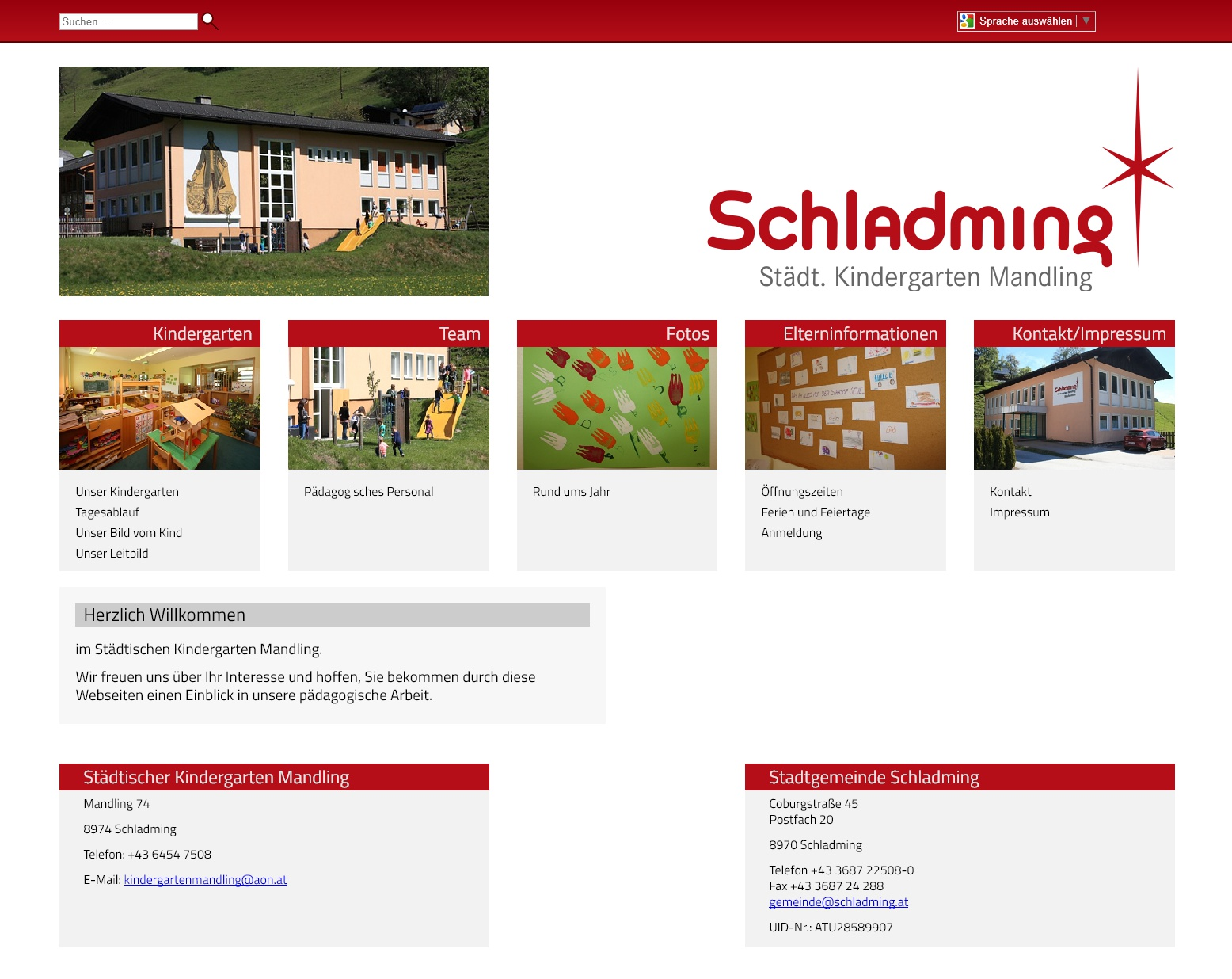 Screenshot kiga-mandling.schladming.at