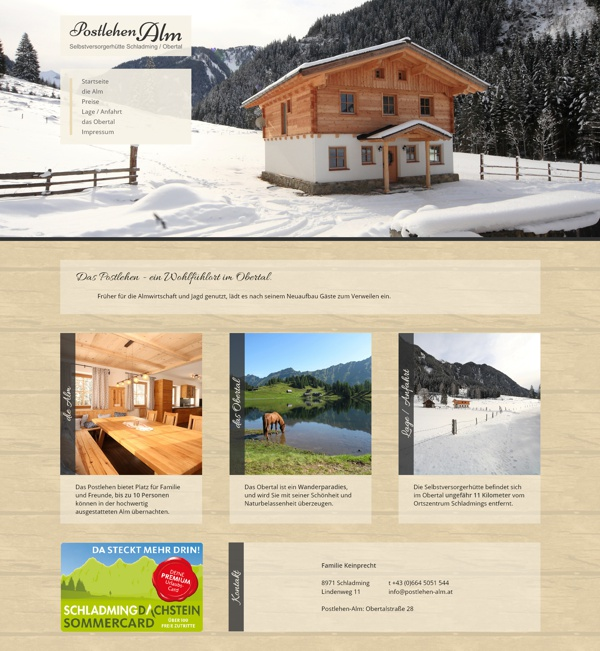 Screenshot postlehen-alm.at